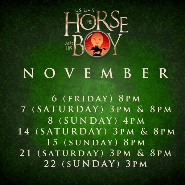 Trumpets The Horse and His Boy schedule